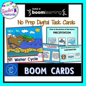 BOOM Cards Science | WATER CYCLE | Digital Task Cards