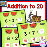 BOOM CARDS MATH | Addition Facts to 20 | Kindergarten & First Grade
