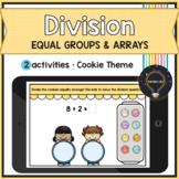 BOOM Cards • Division • Dividing with Equal Groups • Arrays • Distance Learning