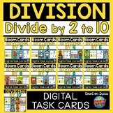 Math BOOM Cards Division Bundle | Distance Learning | Math