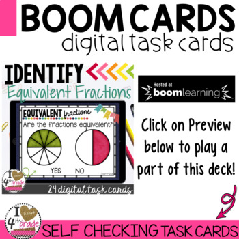 BOOM Cards Equivalent Fractions