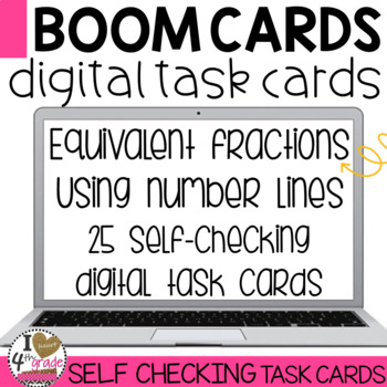 BOOM Cards Equivalent Fractions on a Number Line