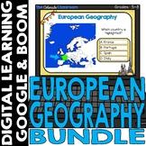 European Map and Geography DIGITAL Cards Bundle | Google C