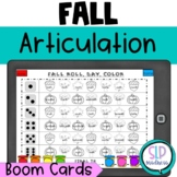 BOOM Cards Fall Articulation Roll Say Color Speech Therapy