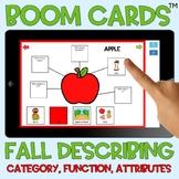 BOOM Cards™️ Fall Describing Webs Category Function Attrib