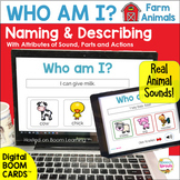 BOOM Cards Naming and Describing by Attributes -  Farm Ani
