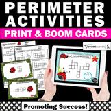 BOOM Cards Perimeter Task Cards 3rd Grade Math Review