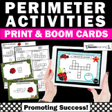 BOOM Cards Digital Task Cards Math Perimeter Activity 3rd Grade Math Review