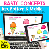 BOOM Cards Spatial Concepts Top Bottom & Middle Speech The