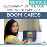 BOOM Cards Geography Activity USA and North America BUNDLE