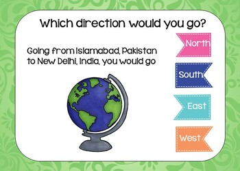 BOOM Cards Geography Map Activity Asia