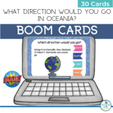 BOOM Cards Geography Map Activity Oceania