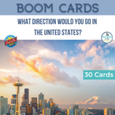 BOOM Cards Geography Map Activity United States