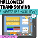 BOOM Cards Halloween Thanksgiving Similarities & Differenc