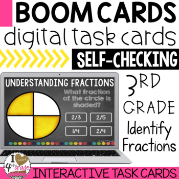 BOOM Cards Identify Fractions