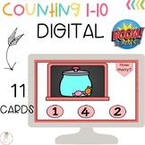 BOOM Cards Digital Counting Numbers 1-10 FREEBIE