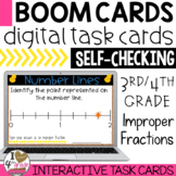 BOOM Cards Improper Fractions on a Number Line