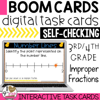 BOOM Cards Improper Fractions on a Number Line