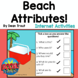 BOOM Cards | Language | Summer | Beach Attributes | Distance Learning