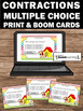 BOOM Cards Learning Contractions Digital Task Cards Google Classroom 2nd Grade