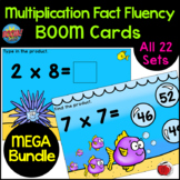 BOOM Cards MEGA Bundle of Multiplication Facts (1 - 10x) D