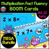 BOOM Cards MEGA Bundle of Multiplication Facts (1 - 10x) D