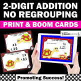 BOOM Cards Math 2nd Grade Double Digit Addition Without Regrouping Worksheets