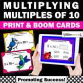 BOOM Cards Math Multiplying Multiples of 10 3rd Grade Multiplication Task Cards