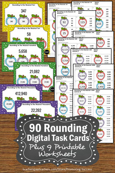 BOOM Cards Math BUNDLE Rounding to the Nearest 10 and 100 and 1000