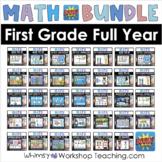 BOOM Cards Math First Grade Full Year Bundle Digital Task Cards