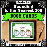BOOM Cards Math Rounding to the Nearest 100 3rd Grade Math Digital Task Cards