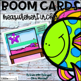 BOOM Cards Measurement with Inches ENGLISH | Distance Learning