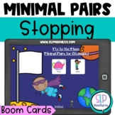 Minimal Pairs Stopping Articulation Game Boom Cards Speech Therapy