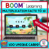 BOOM Cards Multiplicaction Basic Facts to 10 Digital Resource