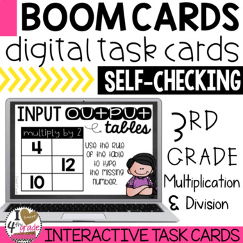 BOOM Cards Multiplication and Division Function Tables