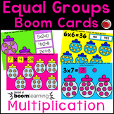 BOOM Cards Multiplication with Equal Groups - Distance Learning
