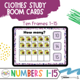 Creative Curriculum Clothes Study Distance Learning - BOOM Cards Number 1-15