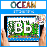 BOOM Card Letter Building   Distance Learning   Letter Recognition   Ocean
