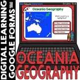 Oceania Map and Geography DIGITAL Cards Freebie   Google