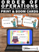 BOOM Cards Digital Task Cards Math 5th Grade Order of Operations Quiz