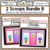 BOOM Cards PREVIEW: 2 Scoops Bundle A {Sums to 10}
