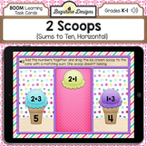 BOOM Cards PREVIEW: 2 Scoops {Sums to 10, Horizontal}