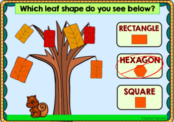 Boom Cards Fall Math ATTRIBUTES OF 2-D SHAPES