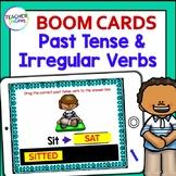 BOOM CARDS ELA and GRAMMAR Past Tense & Irregular Verbs Digital Task Cards
