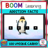 BOOM Cards Penguin Addition Facts to 10 Digital Resource