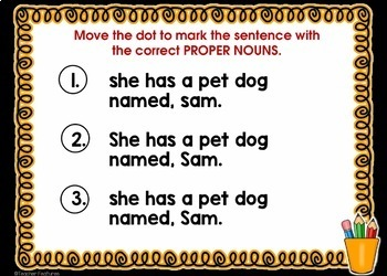 DIGITAL BOOM CARDS READING Proofreading Sentence Capitalization & Punctuation