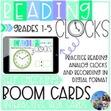BOOM Cards: Reading Clocks and Telling Time {1.MD.B.3, 2.MD.C.7, 3.MD.A.1}