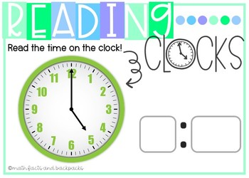 BOOM Cards: Reading Clocks and Telling Time {1 MD B 3, 2 MD C 7, 3 MD A 1}