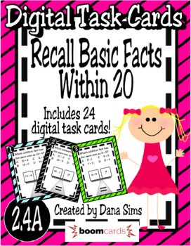 BOOM Cards: Recall Basic Facts Within 20 (TEKS 2.4A)
