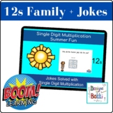 BOOM Cards Single Digit Multiplication Math Jokes (12 Family)